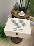 VERY LARGE Personalised HUSBAND Keepsake Bereavement Memory Box ANY NAME - 254362449788